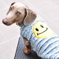 存在感抜群のスマイルワッペン犬服タンクトップ