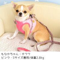 チワワ2.8kgのもなかちゃんはピンクのSを着用