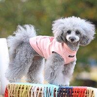 トイプー2.1kg(首17/胴29/丈24cm)のメルシーちゃんはピンクのSを着用