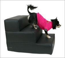 【犬】【階段】iDogLivingiStepアイステップレザータイプ3段。商品画像2。