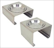 【犬】【猫】【食器台】iDogアイドッグKeatキート専用ディッシュステンレス浅皿。手に持つとこのくらいです。