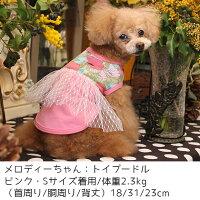 トイプー2.3kg(首18/胴31/丈23cm)のメロディちゃんはピンクのSを着用