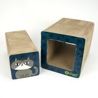 【猫】【つめとぎ】iCatアイキャットオリジナル飛び出すつめとぎネコトンネル。iCatのロゴ入り