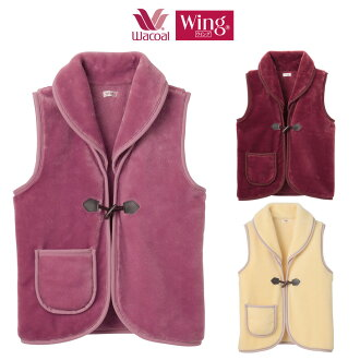 Wacoal Wing personalware soft and fluffy vest (warm some areas remove whether it was lady's nightclothes roomware EX2005)