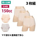 【セット販売3枚】失禁パンツ 女性用 150cc 日本製 ( 婦人 失禁 漏れない 消臭 綿 吸水 sk32035 一部地域除き 送料無…