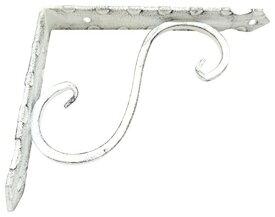 ケイジーワイ工業 KJW−115 KGY アンティック 鍛冶屋の棚受 白 115x150