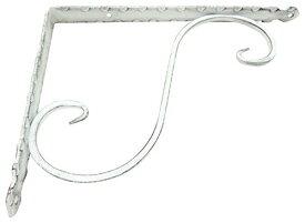 ケイジーワイ工業 KJW−200 KGY アンティック 鍛冶屋の棚受 白 200x275