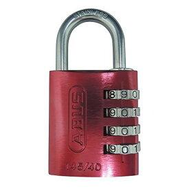 日本ロックサービス ABUS ナンバー可変式南京錠 145IB レッド 40 4936053102957