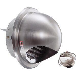 宇佐美工業 UK-GN150SHD-HL(120°ヒューズ) ステン丸型フードダンパー付ガラリ