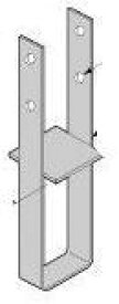 Cマーク金物(C) 柱脚金物 PB-42(六角ボルト付) (10入1ケース)