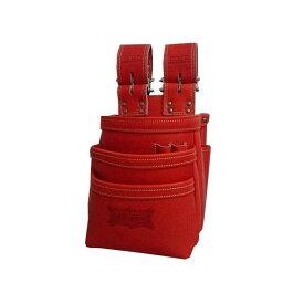 ニックス KGR-301DDX 最高級硬式グローブ革チェーンタイプ3段腰袋(レッド)