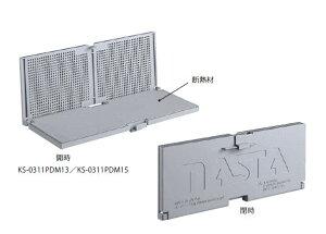 キョーワナスタ KS-0311PDM15-LG リフォームパーツ 樹脂/床下換気口KS-0311PN後付タイプ/防虫網・断熱材付 ライトグレー