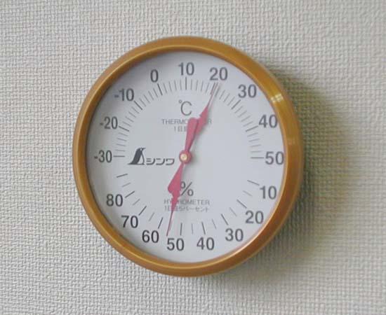 シンワ測定 72691 温湿度計 丸型 U-1 丸型10cm