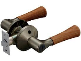 マツ六 兼用バリアフリーレバー木製トイレ錠 EL5060-4MW-UMB アンバー+Mブラウン