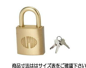 アルファ KA40E0050 キー3本付 南京錠 1000-50 同一キー 大阪No.