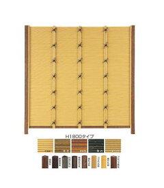 タカショー エコ竹みす垣5型セット 26φ 60角柱 黒焼角柱 追加1800 虎竹