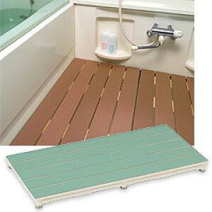 ヤザキ(個人宅配送不可) マット付きすのこ 浴室用すのこ 350mm×1100mm CWM ブラウン/ライトブラウン/グリーン