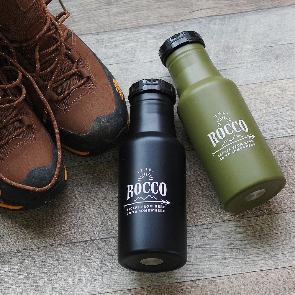 水筒 おしゃれ ロッコ マイボトル マイ水筒 ワンタッチボトル ステンレス 氷サイズ アウトドア キャンプ トレッキング ワンプッシュボトル 500ml ROCCO 直飲み