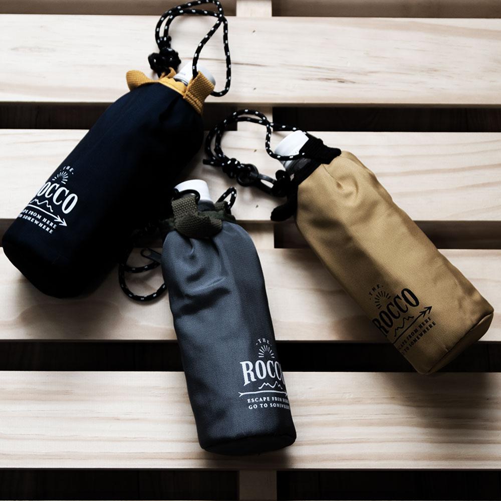 ROCCO Bottle cover ペットボトル カバー 500ml ホルダー 保温 保冷 運動会 アウトドア 水筒カバー ネコポス送料無料