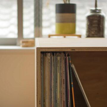 レコードボックス50cmレコードラックキューブボックスBOX木箱