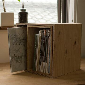 レコードボックス50cmレコードラックキューブボックスBOX木箱送料無料