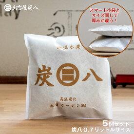 炭八 小袋 0.7L 5個セット 湿気取り 車内 大袋 湿気 除湿対策 室内用 結露対策