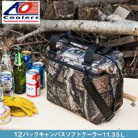 AOクーラーズAOcoolers12パックキャンバスソフトクーラーバッグ12缶用11.35Lモッシーオーク迷彩ハンターシリーズ