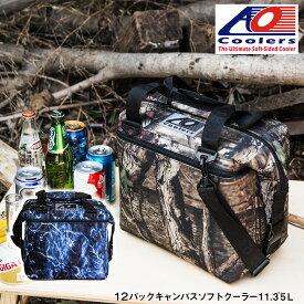 AOクーラーズ AO coolers エーオー クーラーズ 12 パック キャンバス ソフトクーラーバッグ ブルーフィン クーラーボックス 小型 12缶用 11.35L モッシーオーク 迷彩 ハンターシリーズ