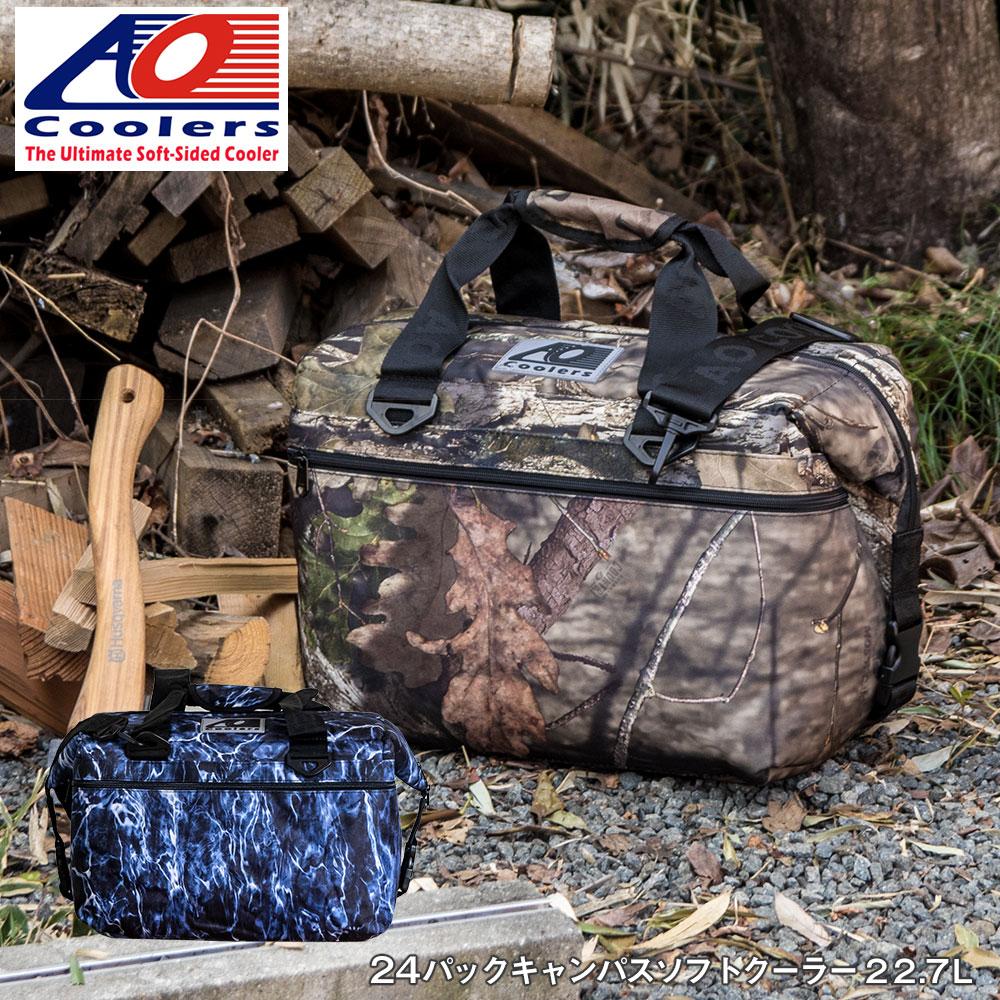AOクーラーズ AO coolers エーオークーラーズ 24パック キャンバス ソフトクーラーバッグ ブルーフィン クーラーボックス 24缶用 22.7L モッシーオーク 迷彩 ハンターシリーズ