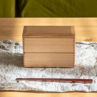 二段弁当箱宮崎杉木製65×145松野屋日本製