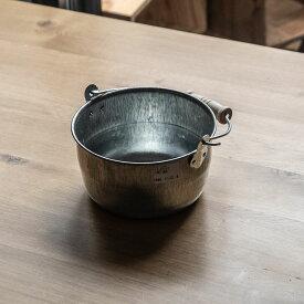 トタン豆バケツ 小 松野屋 日本製 道具 2L アウトドア 掃除