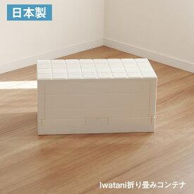イワタニ 折りたたみ コンテナ ボックス I'mDグリッドコンテナ 日本製 トランク おもちゃ 収納 スタッキング