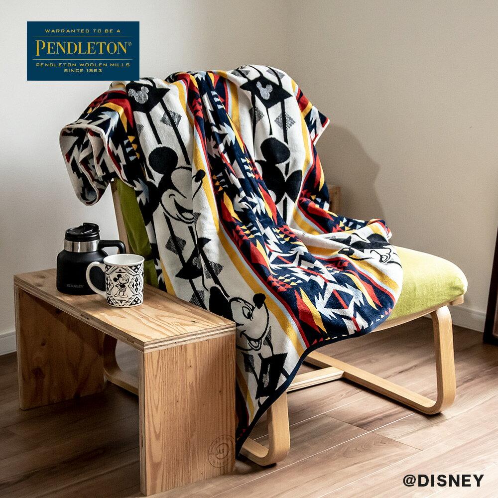 ペンドルトン PENDLETON JQ Towel Mickey ジャガードSPAタオル ミッキーマウス XK235 毛布 ブランケット アウトドア タオルケット 国内正規品