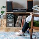 オープンシェルフ レコードボックス 収納 本棚 木箱 テレビ台 文庫 文芸 日本製 国産 LP