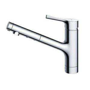 台付シングル混合水栓(エコシングル、ハンドシャワー)...