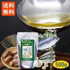 送料無料 だし&栄養スープ 千年前の食品舎 ペプチド 500g 無添加 ノンアレルゲン 粉末だし 出汁