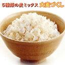 国産 大麦づくし 送料無料 420g×2(840g) 5種類の麦ミックス 麦飯 雑穀米 大麦ごはん 押麦 胚芽押麦 米粒麦 ビタバー…