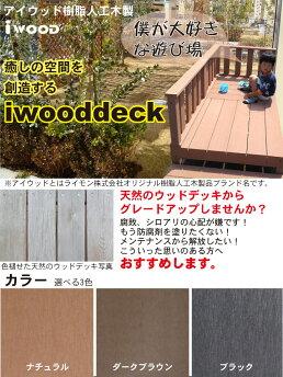 【送料無料】アイウッドデッキPLUSデッキ3点ステップ1点セット0.75坪ダークブラウン