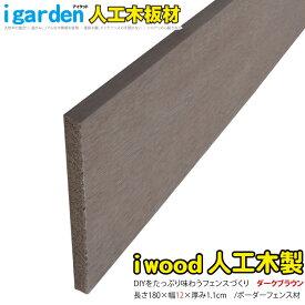 アイウッド人工木材12 ダークブラウン■ H12cm×W180cm ボーダーフェンス用板材 アイウッドデッキ幕板 DIY部材 ラティス| アイウッド製 目隠し 日除け