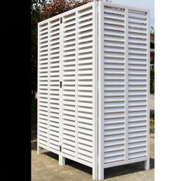 アイウッド人工木折り畳みルーバーラティス180×160cmホワイト