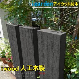 アイウッド 枕木 人工木製 ブラック 150cm 3本セット エクステリア RCPHLS_DU 送料無料