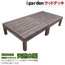 天然木製ウッドデッキ 2点セット 0.5坪 ダークブラウン 1.0間3尺 アイガーデンオリジナルウッドデッキ ウッドデッキ …