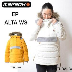 【OUTLET SALE アウトレットセール セール】【50%OFF SALE】ICEPEAK アイスピーク EP ALTA WOMEN レディース 中綿ジャケットYELLOW WHITE プルオーバー スキージャケット スノーボードジャケット スキーウ