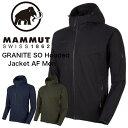 ジャケット・アウトドア・タウン/Mammut/GRANITE SO Hooded Jacket AF Men/耐風・撥水/黒・紺・カーキ