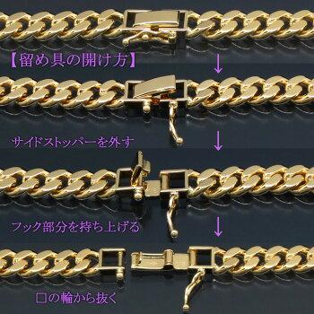 18金喜平ネックレス6面ダブル9.3g-45cm造幣局検定刻印入