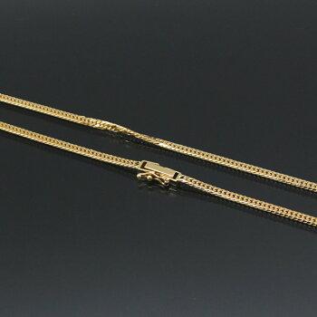 6面ダブル喜平ネックレス(六面キヘイ)K18ゴールド10g-50cm造幣局検定刻印入KN0JK6055500