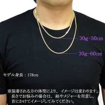 6面ダブル喜平ネックレス(六面キヘイ)K18ゴールド30g-50cm造幣局検定刻印入KN0JK6100500