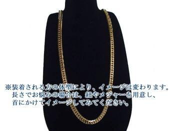 6面ダブル喜平ネックレス(六面キヘイ)K18ゴールド50g-50cm造幣局検定刻印入