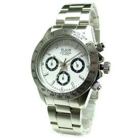 エルジン腕時計 ELGIN FK1059S-W 白文字盤/200M防水/クロノグラフ/ダイバー使用 【お取り寄せ】【プレゼント包装無料】 【02P03Dec16】 【RCP】 【_腕時計】