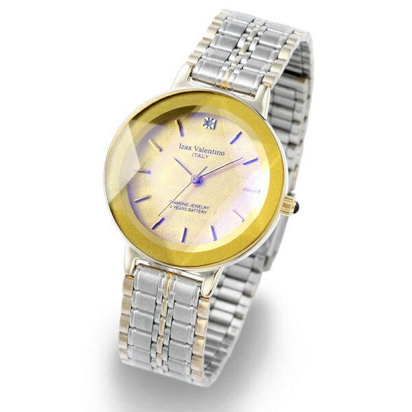 アイザック ヴァレンチノ IZAX VALENTINO IVG-200-1 天然ダイヤ カットガラス メンズ【02P03Dec16】 【RCP】 【_腕時計】